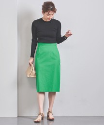 UBCB 綾織高腰窄裙 日本製