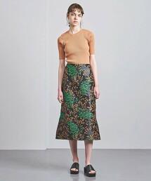 UGCM 花朵緹花窄裙 日本製
