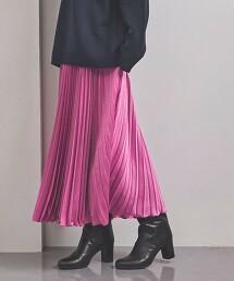 <UNITED ARROWS> POWDERY/STN 風琴褶 長裙 W 日本製