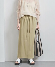 UWSC 正面開衩 鬆緊腰 窄裙 日本製