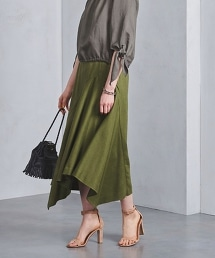 <SACRA>不對稱 長裙◆ OUTLET商品