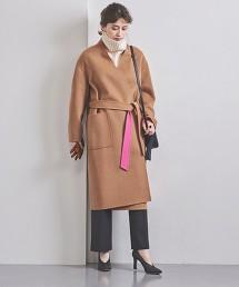 UBCB 仿河狸毛 雙色長版大衣