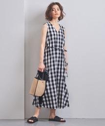 UWCS V領腰帶長版洋裝†