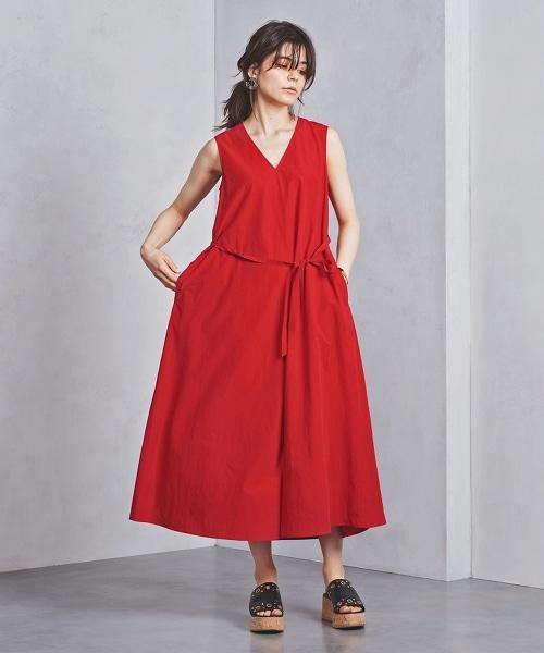 ○UWSC V領 腰帶 連身洋裝†