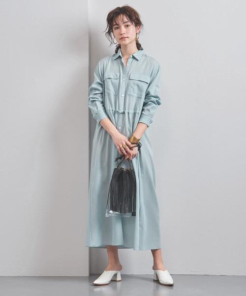 UWCB CU/C 乾爽長版襯衫式洋裝