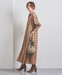 UWSC 格紋 長版 襯衫式洋裝