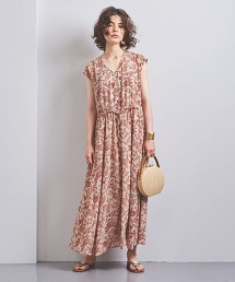 UWCS 透膚花朵洋裝