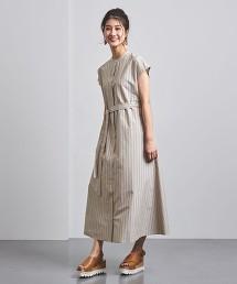 UWSC C/R 直條紋 立領 襯衫式洋裝†