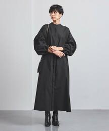 UWCC C 蓬鬆五分袖 襯衫式洋裝†