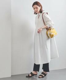 UWFM 荷葉邊 中長版連身裙