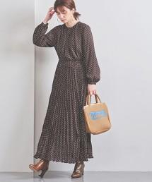 UWFM 圓點百褶長版洋裝