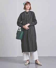 UGSC 立領 襯衫式洋裝 日本製
