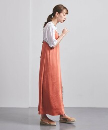UWFM 色丁布 細肩帶洋裝† 日本製