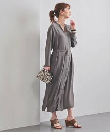 UBC V領 襯衫式洋裝 日本製