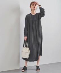 UBC 碎褶 長袖洋裝 日本製