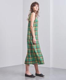 UGFM 格紋吊帶連身裙