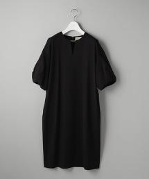UBCS CU/C  蓬鬆5分袖 連身裙
