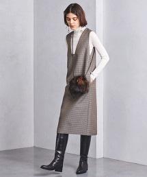 UWSC 格紋 窄版 連衣裙