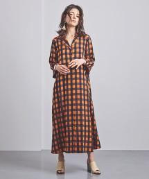 UGMSC 小方格格紋 開領 洋裝