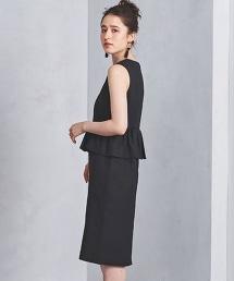 UPCB 荷葉腰窄版無袖連身裙