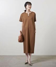 <UNITED ARROWS>P/PU 開襟領 洋裝 B 日本製