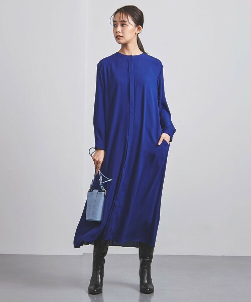 <UNITED ARROWS>P 後百褶 連身裙 B 日本製