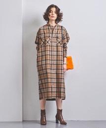 特別訂製<TICCA> 格紋 襯衫式洋裝†
