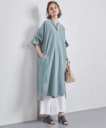 特別訂製<TICCA>直條紋螺旋袖連身裙