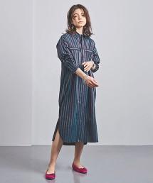 特別訂製<TICCA>直條紋 襯衫式洋裝