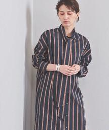 <SACRA>直條紋 領結 洋裝 日本製