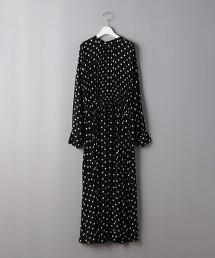 <SACRA>圓點 抽褶 洋裝 日本製