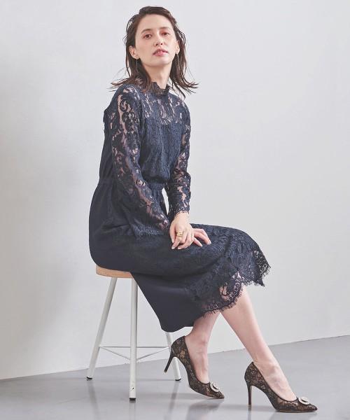 <Marilyn Moon>蕾絲針織 洋裝