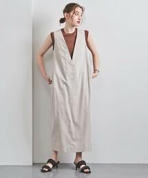 <SACRA>KNOT V領 連衣裙 日本製