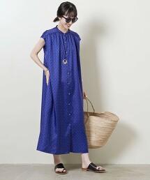 <UNITED ARROWS>小紋印花無袖洋裝 W 日本製
