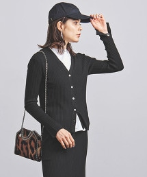 UWCS 羅紋 V領開衩對襟外套
