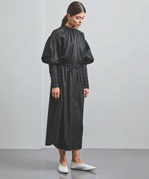 <HYKE>T/C 縮摺 泡泡袖 洋裝 ■■■ 日本製