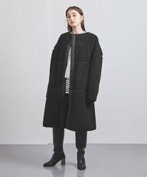 <HYKE>絨毛 長版大衣 ■■■ 日本製