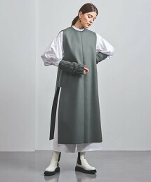 <HYKE>厚呢 無袖 洋裝 ■■■ 日本製