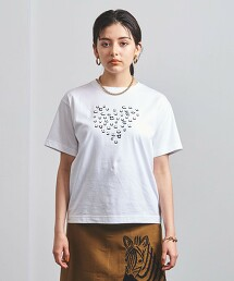 <MUVEIL>HEART TEE-united LOVE project 2021† 日本製
