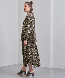 <Kaon>豹紋不對稱下襬百褶裙