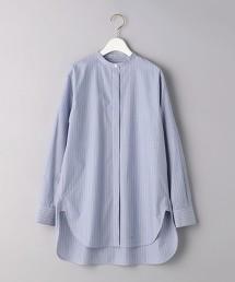 <J&M DAVIDSON>直條紋 立領襯衫 日本製 ■■■