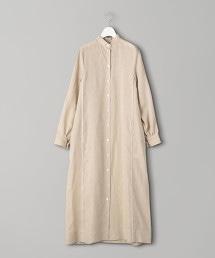 特別訂製<CINOH>亞麻襯衫式連身裙