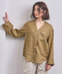 特別訂製<CINOH>V領襯衫 BEIGE