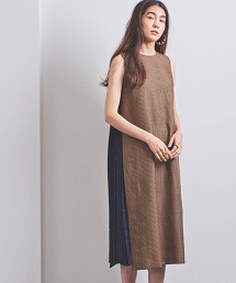 <EZUMi>側身蕾絲百褶格紋洋裝