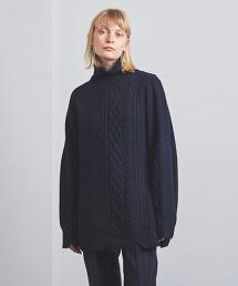 <EZUMi>粗繩紋 高領針織上衣