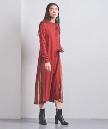 <EZUMi>側邊打摺 針織長洋裝