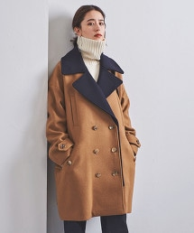 <EZUMi>撞色 雙排釦外套
