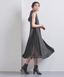 <EZUMi>側邊打摺 蕾絲洋裝