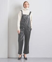 <CINOH>仿皮革吊帶褲 OUTLET商品