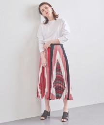 <CINOH>方巾印花 百褶裙